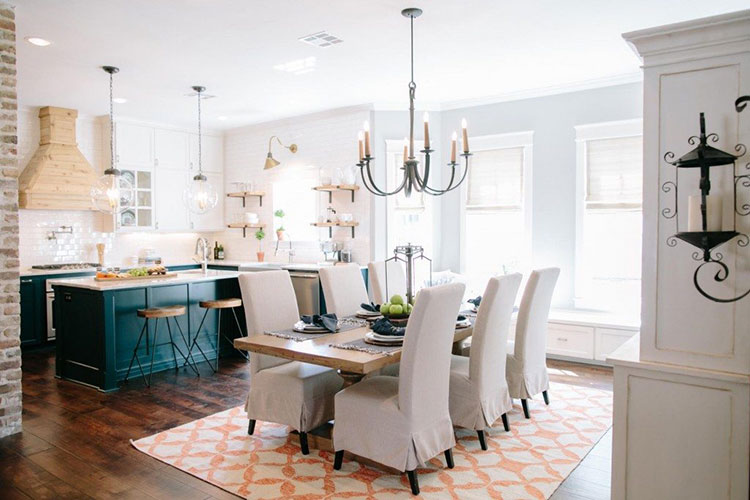 Get the fixer upper look furniture and decor ideas for Fixer upper dining room ideas
