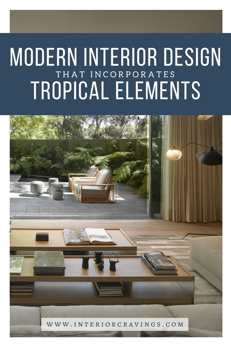 modern interior design that incorporates tropical elements