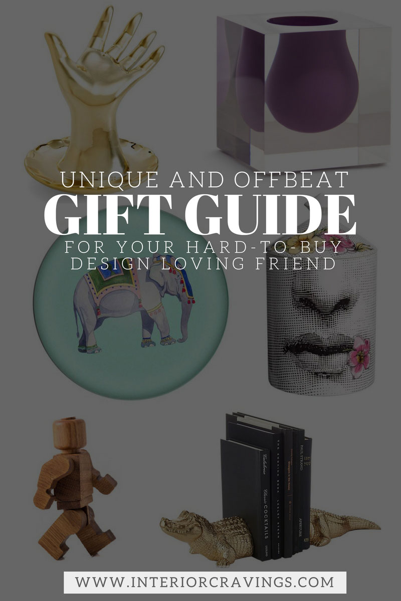 Unique and offbeat gift ideas for your hard to buy design for Interior design gifts